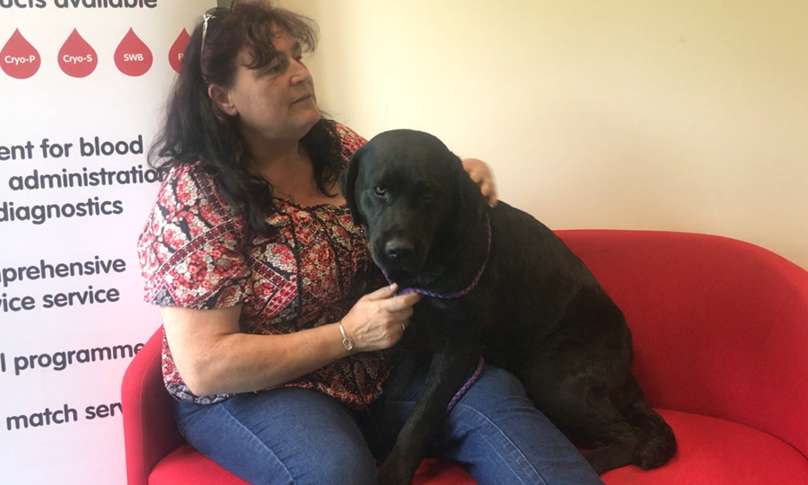 Owner Mhairi with Black Labrador Dream