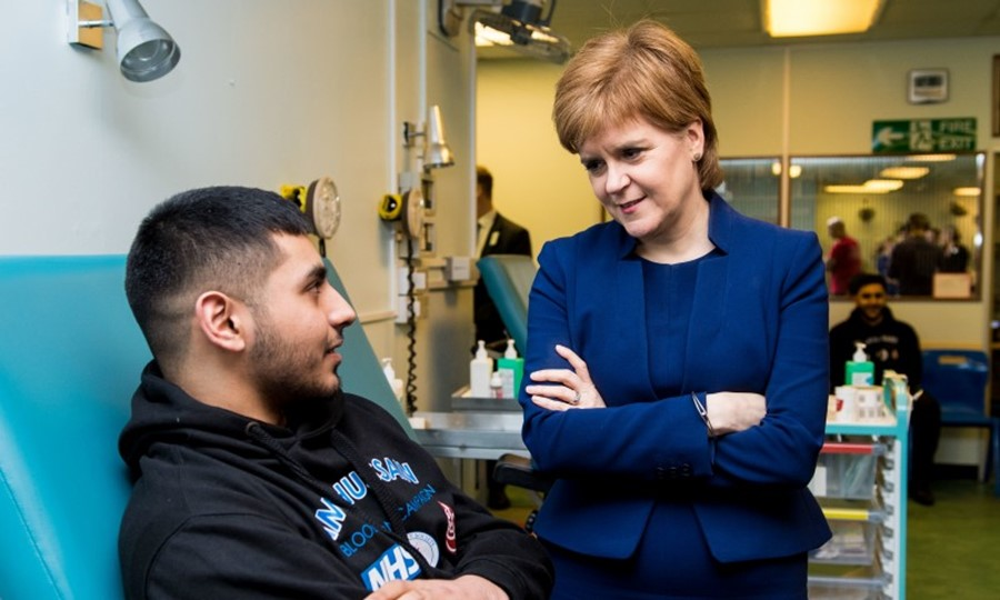 The First Minister and SABS donor Faraz Sheikh