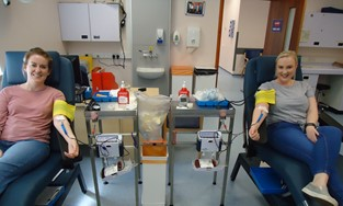 Why we give blood together - Amy and Sophie