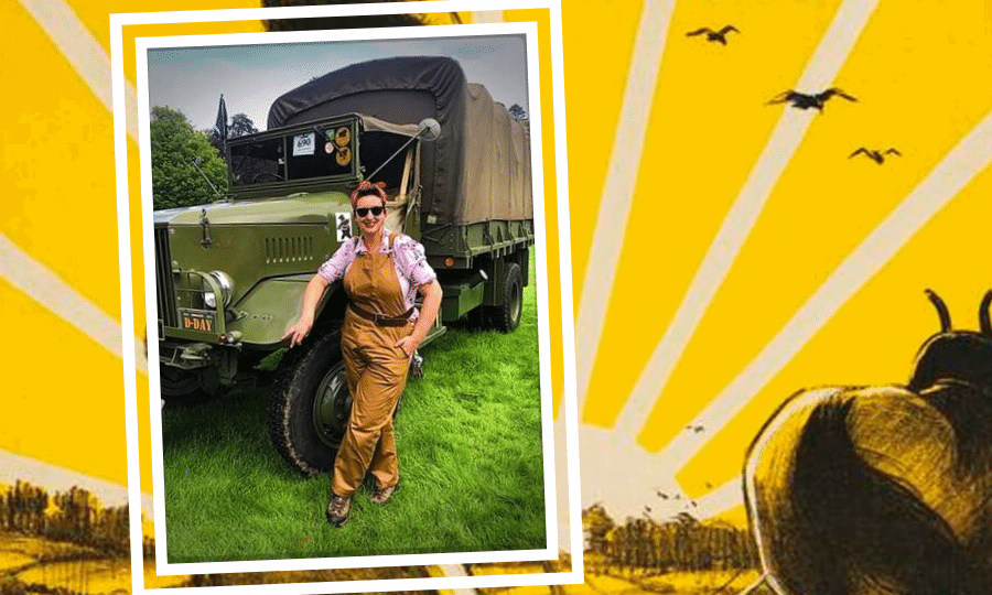 Karen Smith and her family travel around the UK with their vintage vehicles.