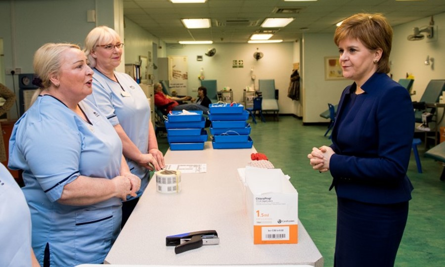 Meeting staff at Edinburgh Blood Donor Centre