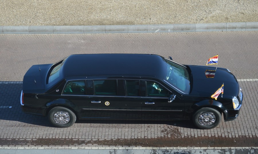 Presidential car contains blood.