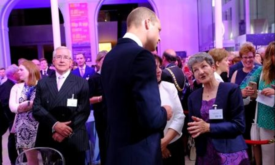 SNBTS Donor Carer Evelyn Wood chats to HRH The Earl of Strathearn